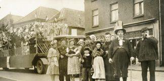 Optochtdeelnemers op de Biest, 1937.